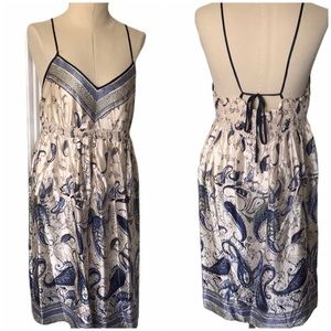 Mimi Maternity Empire Waist Silk Tie Back Dress